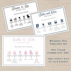Wedding Itinerary/Timeline for wedding party or by DesignsByDVB, $0.75