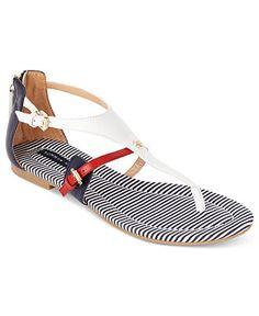 186347824 Tommy Hilfiger Baran Flat Thong Sandals   Reviews - Shoes - Macy s