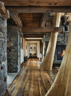 Rustic Log Cabin # fabulous untreated raw timber