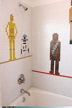 Star Wars Shower, czyli Przebudzenie Mocy pod porannym prysznicem :D #chewie, we are home!