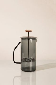 850 mL Glass French Press - Gray Copper Cups, French Press Coffee Maker, Kitchenware, Tableware, Filter, How To Make Coffee, Making Coffee, Coffee Gifts, Decoration