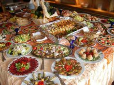 Christmas lunch in traditional way, Vojvodina, Serbia