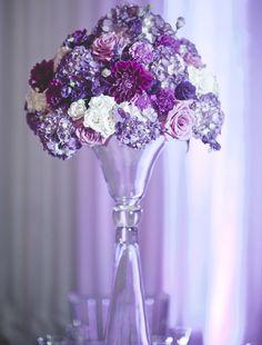 Cheap Wedding Flowers Can Still Be Beautiful Purple Wedding Centerpieces, Wedding Reception Decorations, Floral Centerpieces, Wedding Themes, Wedding Bouquets, Floral Arrangements, Centerpiece Ideas, Centrepieces, Wedding Ideas