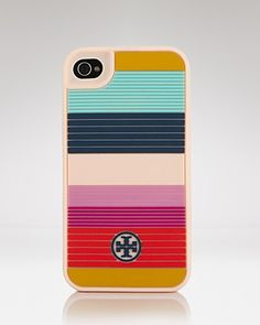 Tory Burch iPhone Case - Striped Silicone | Bloomingdale's