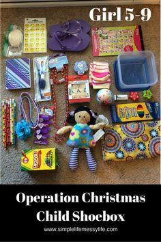 Gift ideas operation christmas child shoebox