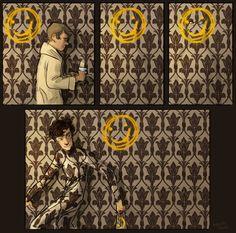 Sherlock and Movie!Sherlock Crossover of fanart! Sherlock John, Fan Art Sherlock, Sherlock Fandom, Sherlock Holmes, Funny Sherlock, Benedict Sherlock, Doctor Who, Doctor Strange, 221b