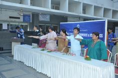 Oath for Sports Day at Annual Sports day - Narsee Monjee College of Commerce and Economics.