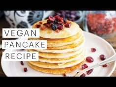 Vegan Pancake Recipe | The Edgy Veg » I add a half cup of oatmeal too.