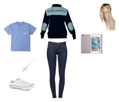 """""""Untitled #53"""" by chloe-madison-barnes on Polyvore featuring Converse, Boohoo, Frame Denim and Kevin Jewelers"""