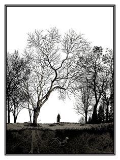"Dan McCarthy ""Wish you were here"" glow in the dark screen print (In the light)"