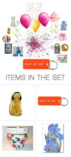 """Crazy Cat Lady!"" by michaelangelas ❤ liked on Polyvore featuring art"