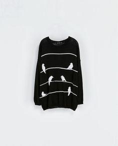 Bird Sweater by Zara Jersey Oversize, Zara New, Pullover, Zara Women, Sweater Weather, Pulls, Casual Wear, Love Fashion, Adidas Jacket