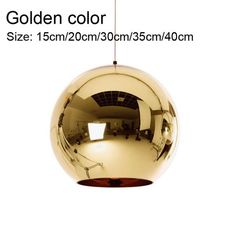 Golden, Copper or Sliver Mirror Chandelier Style Pendant Ceiling Light Glass Ball Lamp Cheap Pendant Lights, Pendant Light Fixtures, Pendant Lamp, Ceiling Rose, Ceiling Lights, Ball Lights, Modern Glass, Glass Ball, Lamp Bases