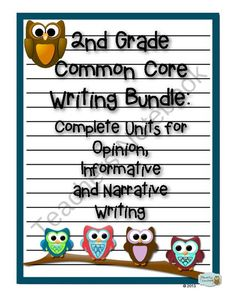 2nd Grade Common Core Writing Bundle: Opinion, Informative and Narrative Writing product from Primarily Teaching on TeachersNotebook.com