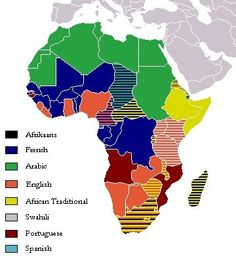 Ethnic Africa, shows where the different languages are in Africa. May also fit under developement due the the colonial influence WM-3