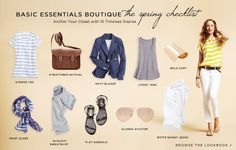 Basic Essentials Boutique   The Spring Checklist - anchor your closet with 10 Timeless Staples @ ShopBop