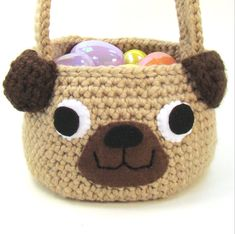 What child doesn't want a pug Easter basket?!  Order your Cuddle Bug Kids pattern here!