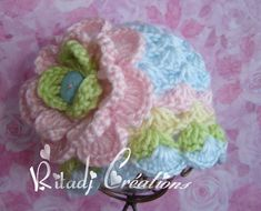 Items similar to New Baby Girl Crochet Hat - Girl Hat - Newborn Beanie on Etsy Knitting Baby Girl, Baby Girl Crochet, Crochet Baby Hats, Crochet For Kids, Knitted Hats, Knit Crochet, Crochet Headbands, Summer Knitting, Newborn Crochet