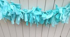 Tiffany Blue Fabric tie garland wedding dessert buffet table shower decoration birthday Christening baptism bridal shower seaside banner | Party Favors, Decorations and Supplies | Scoop.it