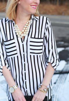 Stripes & Pearls via Let It Be Beautiful