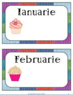 Sarbatoritii clasei - Set - limba romana by Glitter Bubbles Teacher Supplies, Teaching Resources, Alphabet, Bubbles, Frames, Parents, Banner, Classroom, School
