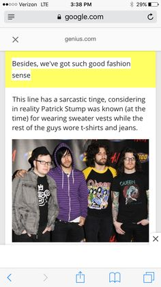 And that's not good fashion sense because...?
