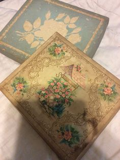 A personal favorite from my Etsy shop https://www.etsy.com/listing/464213496/vintage-card-boxes-both-for-one-price