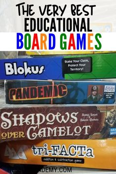 The Very Best Educational Board Games If you're always on the lookout for some fun educational board games to add Educational Board Games, Learning Games, Kids Learning, Math Board Games, Educational Activities, Fun Activities For Kids, Activity Ideas, Fun Games, Family Fun Activities