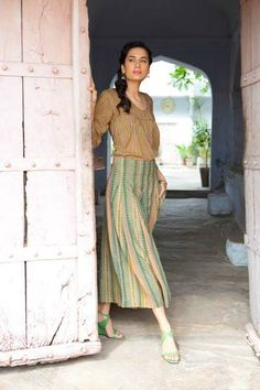 Anokhi. nice skirt and blouse ...