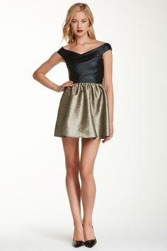 T Tahari | Pepita Feather Jacquard Dress | Nordstrom Rack
