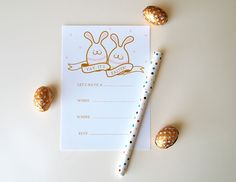 Printable Easter Party Invitation by Design is Yay!