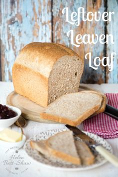 A yeasted loaf that uses up leftover sourdough leaven that is  usually thrown away