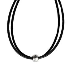 Double leather necklace