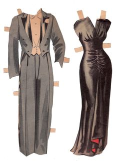 The Paper Collector: Hope and Lamour paper dolls, c. 1940s