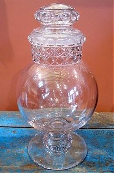 18000 large antique apothecarycandy jar antique furniture apothecary general store candy