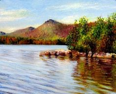 """""""Lake in Autumn"""" by Marie Witte"""