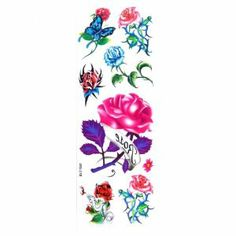 SNOW@New Temporary Tattoos Flower Pattern Design Authentic by SNOW. $4.22. Size: 34.3cm X 12.1cm (L X W). Condition: 100% brand new, high quality. Product type: temporary tattoo. Color: multi-colors      Weight: 0.021kg. Pattern: flowers. Nontoxic and tasteless, safe to use.   Fashionable and individual with flower pattern, authentic and unique looking.   Easy to apply and remove, waterproof, lasts for days.   Temporary Tattoo directions:  1) Skin should be clean and fre...