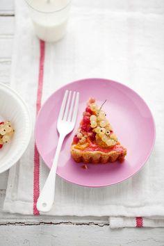 sugar plum and currant crumb tart  recipe