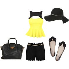 A fashion look from September 2013 featuring Forever New shorts, Oroton flats y Topshop handbags. Browse and shop related looks.