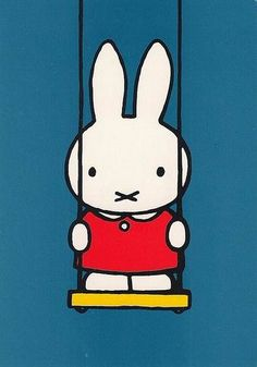 "Miffy (""Nijntje"") is a small female rabbit in a series of picture books drawn and written by Dutch artist Dick Bruna. The original Dutch name, Nijntje, means ""little rabbit"". The first Miffy book was produced in Female Rabbit, Miffy, Dutch Artists, Children's Book Illustration, Childhood Memories, School Memories, Illustrators, Holland, Hello Kitty"