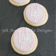 Brush Embroidery Bridal Cookies | Cookie Connection