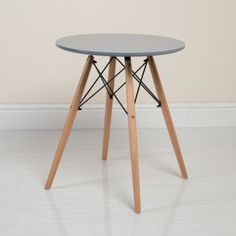 This Charles Eames inspired table from Abreo is a great way to bring a classic minimalist look to your home. http://abreo.co.uk/dining-room-furniture/charles-eames-style-dining-table-in-grey-60cm #eames #scandinavian #table #abreo #minimalist