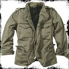 SURPLUS ARMY CLASSIC M65 WASHED WINTER JACKET MILITARY MENS FIELD PARKA OLIVE OD in Clothes, Shoes & Accessories, Men's Clothing, Coats & Jackets | eBay!