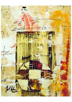 "Joel Lecker  Original  ""Last""                        Mixed Media on Paper"