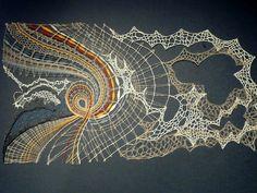 Lace Art, Bobbin Lace Patterns, Form Crochet, Textiles, Textile Fiber Art, Lacemaking, Lace Jewelry, Needle Lace, Lace Design