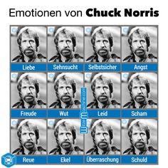 Chuck Norris Witze - Seine Emotionen