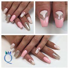 #coffinnails #ballerina #shape #nails #gelnails #negativespace #silverglitter #rose #beige #ballerina #form #nägel #gelnägel #silberglitzer #rosa #beige #nagelstudio #möhlin #nailqueen_janine