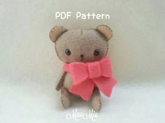 My Little Pet Bear Plush - PDF Pattern Instant Download