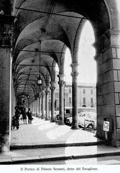 Il portico di Palazzo Sersanti negli anni '60 (Imola evoluzione della città)