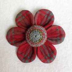 Hand made unique Tweed flower brooch 19 by SkyeBlossoms on Etsy